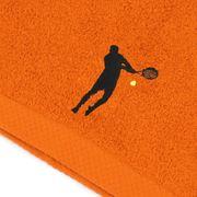 Serviette de toilette 50x100 cm 100% coton 550 g/m2 PURE TENNIS Orange Butane