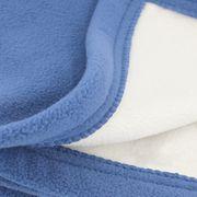 Couverture polaire luxe 240x260 cm 100% polyester 430 g/m2 NARVIK Bleu Pétrole/Naturel