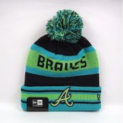 Bonnet MLB Atlanta Braves à pompon New Era Fash Jake Bleu