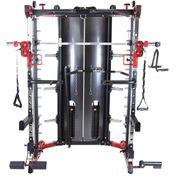 Gorilla Sports - Power rack multipostes avec charges incluses - cage à squats