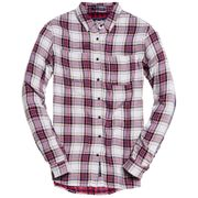 SUPERDRY Double Cloth Checked Chemise Ml Femme