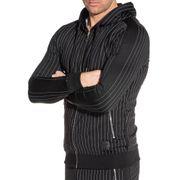 Veste de jogging homme noire à rayures tennis