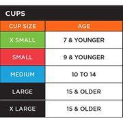 coquille de Baseball Shock Doctor Bioflex cup rouge pour enfant