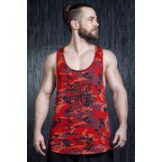 D�bardeur Musculation Dean Camouflage Rouge