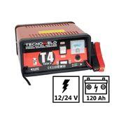 Chargeur de batterie TEC 4- 12-24V-Chargeur batterie voiture et camion jusqu'à 120 Ah-Protection thermique et inversion polarité