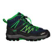 Chaussures de marche CMP Rigel Mid Waterproof bleu foncé vert junior