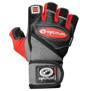 Optimum Techpro X14 Weightlifting Gloves Black/Red - S