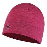 Bonnet Buff Lightweight Merino Wool Hat Purple Multi Stripes fuchsia