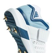 adidas adiPower Vector Mid Mens Adult Cricket Trainer Spike Shoe White/Blue