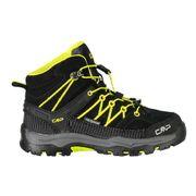 Chaussures de marche CMP Kids Rigel Mid WP noir jaune enfant