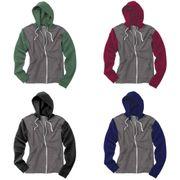 Awdis - Sweatshirt rétro à capuche et fermeture zippée - Homme