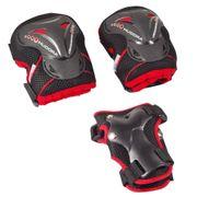 Hudora - Set de protection Grant - L - Noir/Rouge