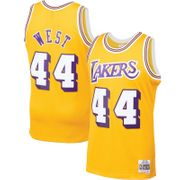 Maillot NBA Jerry West Los Angeles Lakers 1970-71 Mitchell & ness Hardwood Classic swingman jaune Taille - M
