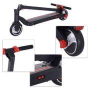 Trottinette électrique pliable 250 W pour adulte enfant 14 ans min. 25 Km/h max. autonomie 15 km max. lampe LED avant alu noir rouge