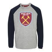 West Ham United FC officiel - T-shirt à manches longues raglan - thème football/avec blason - enfant