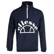 Ellesse Heritage Junio Over Head 1/4 Zip Mens Jacket Coat Navy Blue