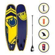 Pack Stand up Paddle PLAYER 9'8 (299cm) 32'' (81cm) 6'' (15cm) - SUP avec dérive centale et support caméra, livré avec pompe, Pagaie et Sac de transport