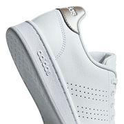 Chaussures adidas neo Cloudfoam Advantage blanc doré femme