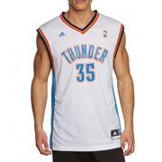 Maillot Replica K. Durant Oklahoma City Thunder Blanc Homme Basketball Adidas