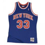 Maillot NBA swingman Patrick Ewing New York Knicks Hardwood Classics Mitchell & ness bleu taille - S