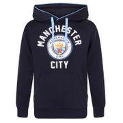 Manchester City FC officiel - Pull à capuche thème football - polaire/avec motif - homme