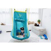 Hudora Balançoire Nid 90cm Avec Tente Pirate - Bleu