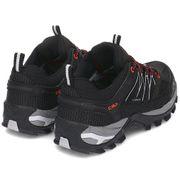Chaussures CMP Rigel Low Waterproof noir gris femme