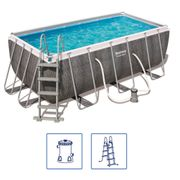 Bestway Ensemble de piscine rectangulaire Power Steel 56722