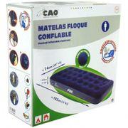 Matelas pneumatique 1 place avec gonfleur intégré CAO