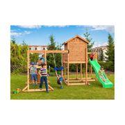 Aire de jeux pour enfants en bois séché lasuré Furiani