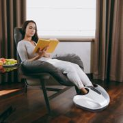 Appareil de massage Shiatsu compact pour pieds 38L x 40l x 22H cm chauffage infrarouge 5 modes P1-P5 pression air gris