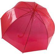 Parapluie canne transparent - KI2024 - rouge