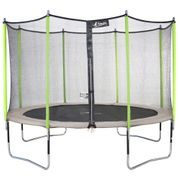 Kangui - Trampoline de jardin 305 cm + filet de sécurité JUMPI ZEN 300. Trampoline certifié par le CRITT sport & loisirs