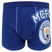 Manchester City FC officiel - Boxer pour homme - avec emblème - bleu marine
