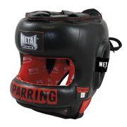 Casque de sparring Métal boxe en cuir-M--M-NOIR--------------NOIR-M
