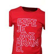 Tee Shirt Garçon Pepe Jeans Pb502205 Bob Jr 280 Berry