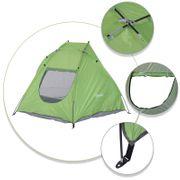 Tente de plage abri de plage pliable dim. 2,30L x 1,40l x 1,27H m fenêtre sac transport inclu polyester vert