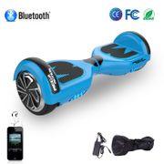 Hoverboard Mega Motion 6.5 pouces classique E1 bleu, Gyropode certifié avec bluetooth