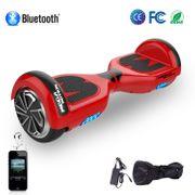 Hoverboard Mega Motion 6.5 pouces classique E1 rouge, Gyropode certifié avec bluetooth