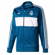 2017-2018 Real Madrid Adidas 3S Track Top (Dark gris)