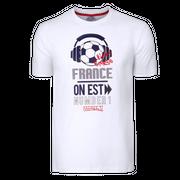 Tee Shirt ZIK Coton France Blanc ENF-8 ans
