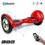 COOL&FUN Hoverboard 10 pouces avec Bluetooth, Gyropode  Overboard Smart Scooter, Rouge
