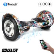 COOL&FUN Hoverboard 10 pouces avec Bluetooth, Gyropode  Overboard Smart Scooter, multicouleur presse design