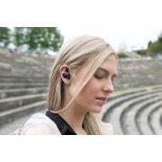 M1 EB1000101 Oreillette de sport Bluetooth avec trousse chargeur autonomie totale 12 heures. Résistant à l'eau et à la sueur IPX4