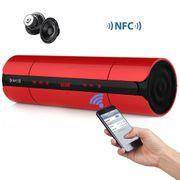 Enceinte Bluetooth V3.0 avec Lumière LED touche tactile NFC FM Radio Rouge