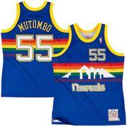 Maillot NBA Dikembe Mutombo Denver Nuggets 1991-92 Mitchell & ness Hardwood Classic Swingman Bleu taille - S