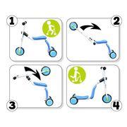 TROTTINETTE  Trottinette / Draisienne 2 en 1 Turn & Roll 2 In 1 Bleu