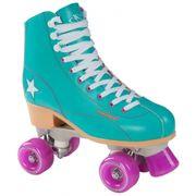 Hudora Disco Skates - Roller - Patins à Roulettes - Vert/Violet - Taille 38