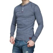 Tee Shirt Superdry M60101rt Heritage Ls D3z Gris
