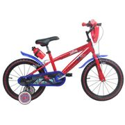Vélo  14 Licence Spiderman pour enfant de 4 à 6 ans avec stabilisateurs à molettes